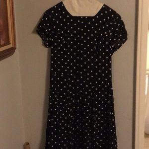 H&M black and white polka dot skater dress